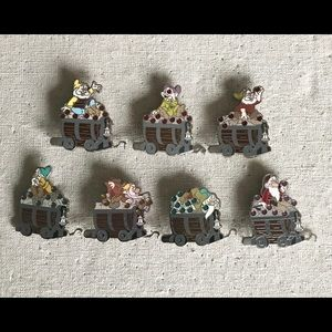Disney Pin Seven Dwarfs Mine Car Mystery Set